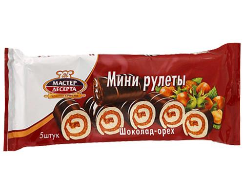 Мини-рулеты Мастер десерта шоколад-орех, 5 шт., 175 г