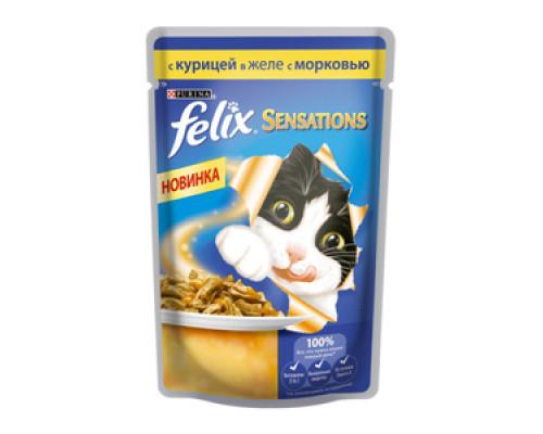 Влажный корм для кошек ТМ Felix(Феликс) курица в желе с морковью