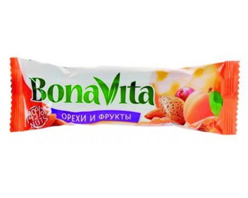 Батончик ореховый ТМ Bona Vita (Бона Вита), орехи-фрукты-мед, 35 г