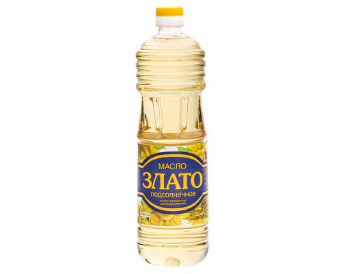 Масло подсолнечное Злато рафинированное дезодорированное 1л