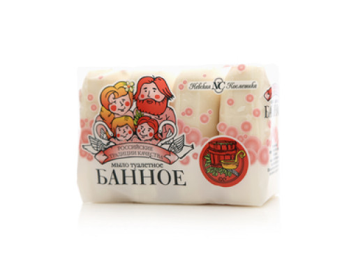 Мыло туалетное Банное 4*100 г ТМ Невская косметика