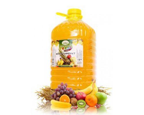 Напиток ТМ Прогулка по саду, мультифрукт, с содержанием сока, 5 л
