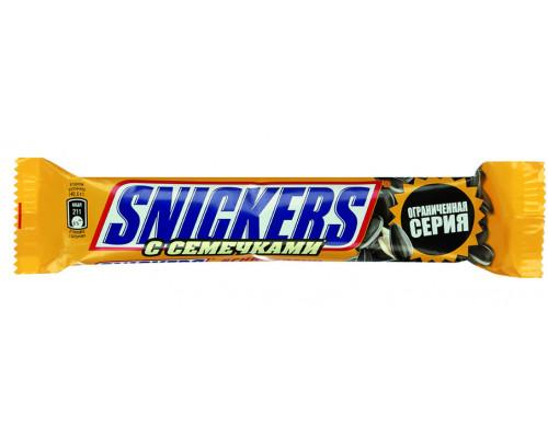 Батончики ТМ Snickers (Сникерс), c семечками, 81 г