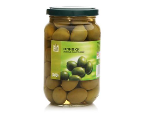 Оливки зеленые с косточкой TM Fine Food (Файн Фуд)