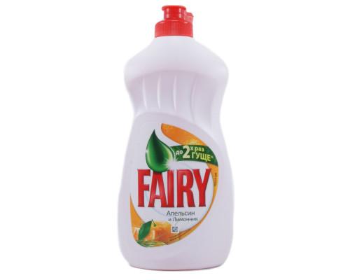 Средство для мытья посуды ТМ Fairy (Фэйри) Апельсин и лимонник, 650 мл