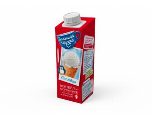 Молочный коктейль Большая кружка с мороженым пломбир 3%, 980 мл