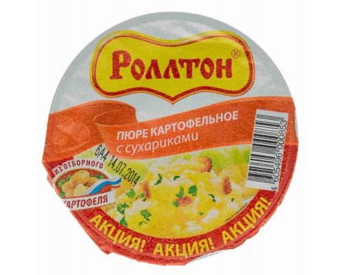 Пюре картофельное Роллтон сухарики 40г ст