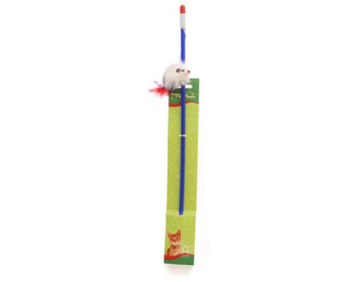 Удочка с мышкой игрушка для кошек ТМ Triol (Триол)
