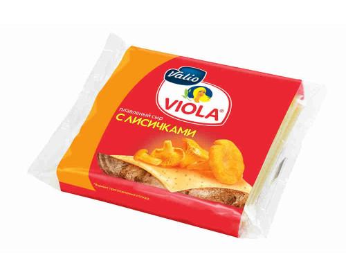 Сыр плавленый Viola с лисичками 140г ломтики