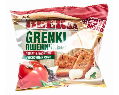 Гренки пшеничные BEERka томат/базилик + соус 60г/25г