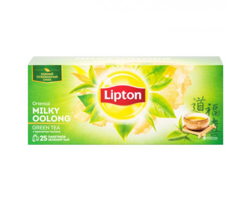 Чай зеленый ТМ Lipton (Липтон) Oriental Milky Oolong, в пакетиках, с ароматом молока, 25 шт.