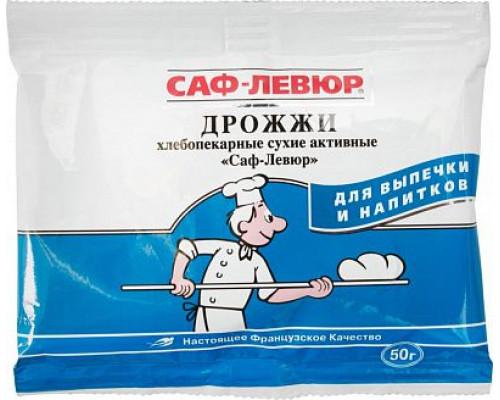 Дрожжи ТМ САФ-Левюр, хлебопекарные, сухие, активные, 50 г