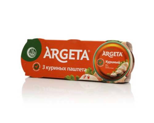 Паштет куриный 3*95 г TM Argeta (Аргета)
