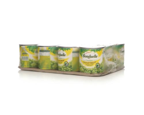 Горошек зеленый консервированный 12*200гр ТМ Bonduelle (Бондюэль)