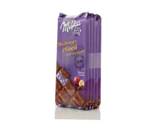 Шоколад молочный с фундуком и изюмом 5*90г ТМ Milka (Милка)
