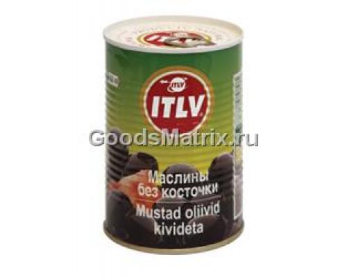 Маслины черные ТМ ITLV (ИТЛВ) без косточки, 425 мл