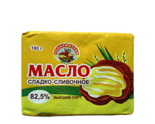 Масло сливочное, традиционное, Родная Кухня, 82,5% 180 г
