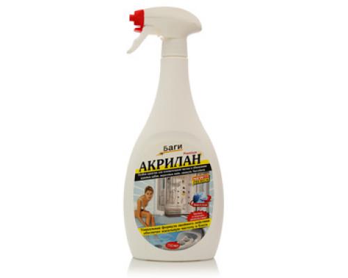 Особое средство для основательной чистки и обновления душевых кабин, акриловых ванн, джакузи, бассейнов ТМ Bagi (Баги)