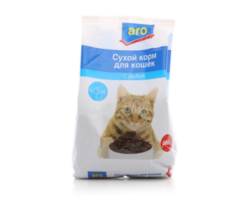 Корм сухой для кошек с рыбой ТМ Aro (Аро)