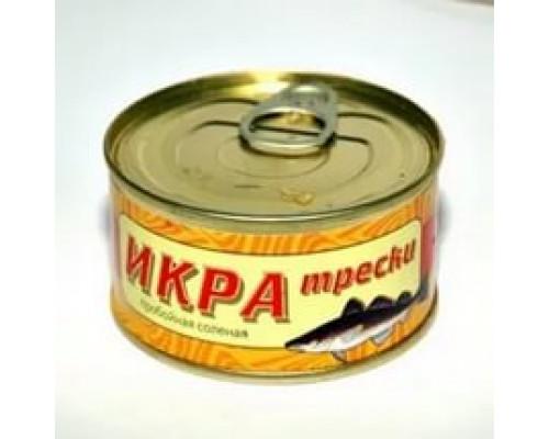 Икра трески ТМ Авистрон, пробойная, соленая, 120 г