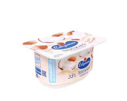 Творожная паста десертная Творожная коллекция кокос-миндаль 3,5% ТМ Савушкин
