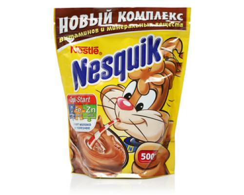 Напиток шоколадный Nesquik быстрорастворимый 500г пакет