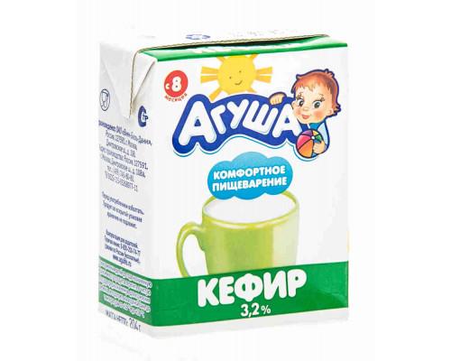 Кефир Агуша дет 3,2% 204г TBA