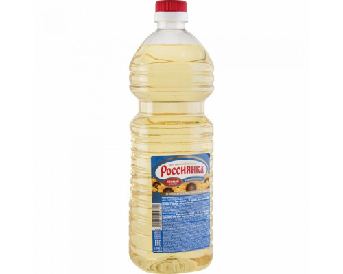 Масло подсолнечное ТМ Россиянка, рафинированное, 1,7 л