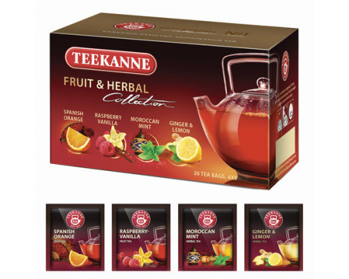Ассорти чайных напитков ТМ Teekanne (Тиканне) Fruit&Herbal Collection, 20 пакетиков, 42,75 г
