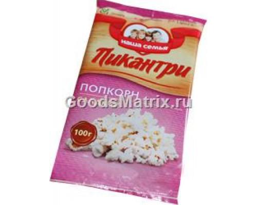 Попкорн сладкий Пикантри для приготовления в микроволновой печи, 100 г