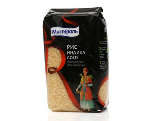 Рис пропаренный длиннозерный Индика Gold ТМ Мистраль