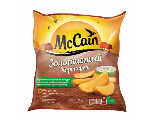 'Картофельные Дольки McCain ''Золотистый'' в кожуре. 750г. п/пак'