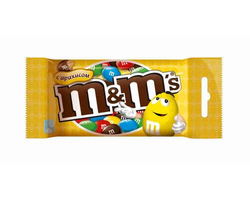 Драже Mars M&M`s арахис 45г