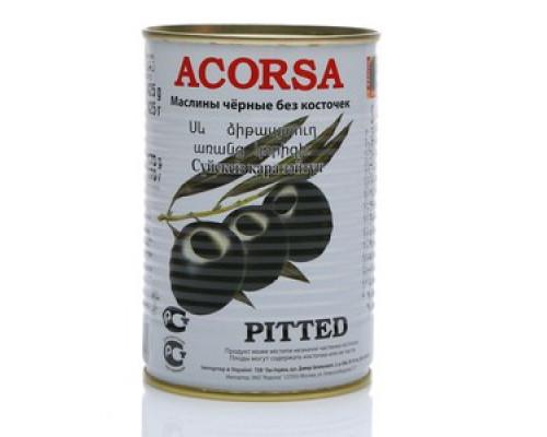 Маслины черные ТМ Acorsa (Акорса) без косточки, 425 г