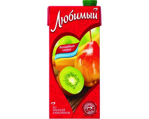 Напиток сокосодержащий ТМ Любимый Яблоко-Банан-Груша-Киви с мякотью, 0,95 л