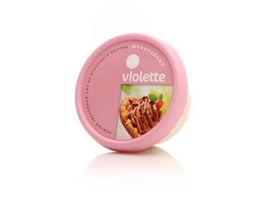 Сыр творожный Виолетта шоколадный ТМ Карат