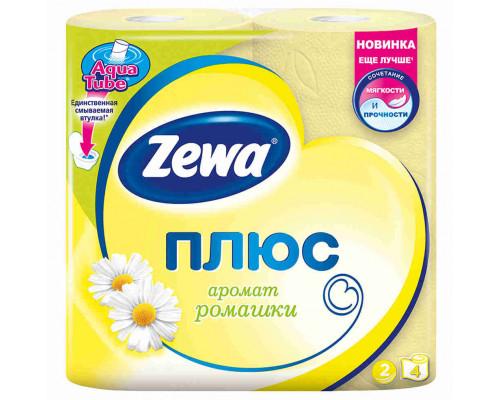Туалетная бумага Zewa Plus ромашка 2сл 4шт