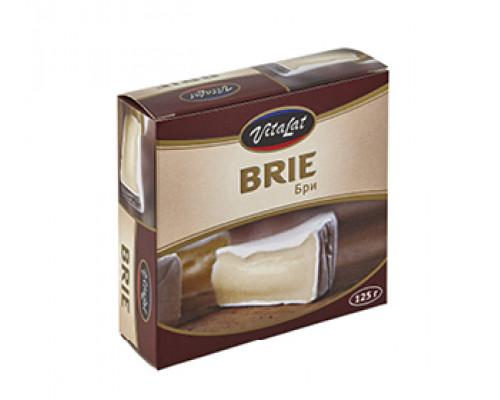 Сыр Бри ТМ Vitalat (Виталат) мягкий с белой плесенью, 60%, 125 г