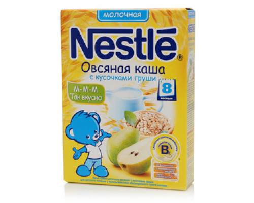 Каша осяная молочная с кусочками груши ТМ Nestle (Нестле)
