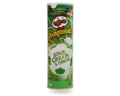 Чипсы со вкусом сметаны и лука ТМ Pringles (Принглс)