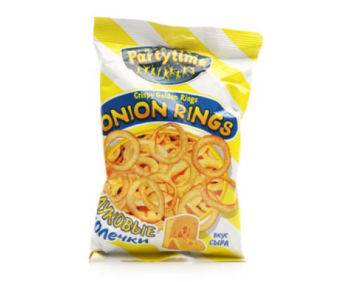 Луковые колечки Onion Rings вкус сыра ТМ Partytime (Патитайм)