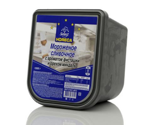 Мороженое сливочное с ароматом фисташки и орехом миндаль TM Horeca Select (Хорека Селект) 9%