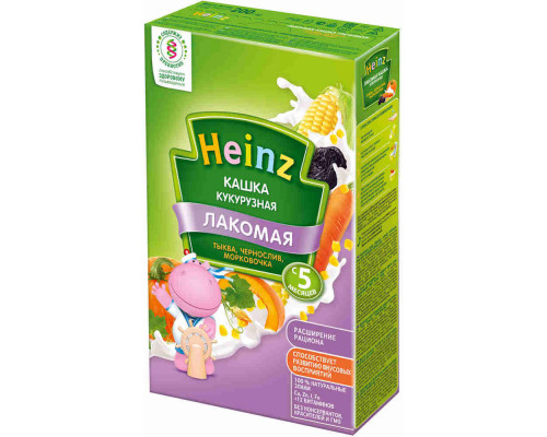 Каша кукурузная молочная Heinz тыква/морковь/чернослив с 5мес 200г