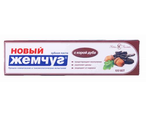 Зубная паста Новый Жемчуг с корой дуба 100мл