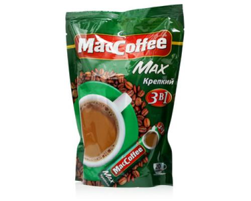 Напиток кофейный растворимый (3 в 1) Max крепкий 20 пакетиков ТМ MacCoffee (МакКофе)