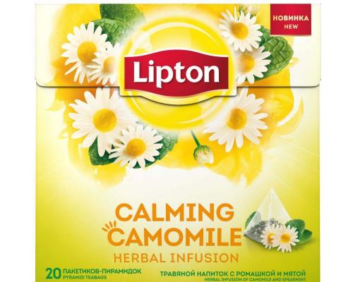Напиток травяной ТМ Lipton (Липтон) с ромашкой и мятой, в пирамидках, 20 шт.