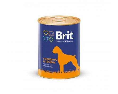 Консервы для собак BRIT говядина и печень, 850 г