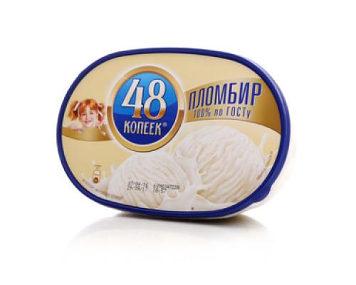 Мороженое пломбир ТМ 48 копеек