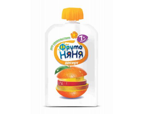 Десерт ФрутоНяня яблоко/банан/апельсин/манго с 7мес 90г д/п