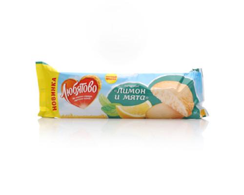 Печенье ТМ Любятово, лимон и мята 250 г